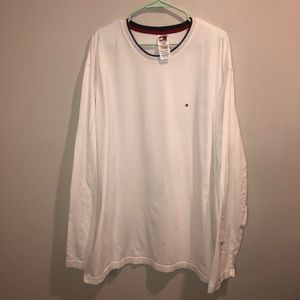 Tommy Hilfiger White Long Sleeve Shirt VTG
